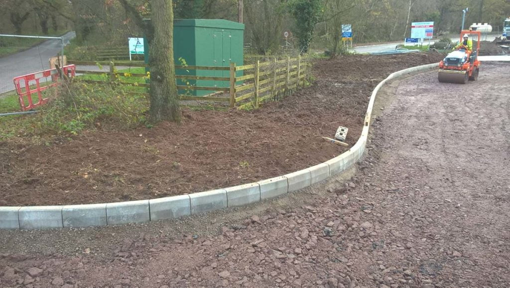 kerbing and road laying project
