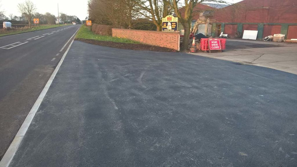 commercial driveways surfacing project