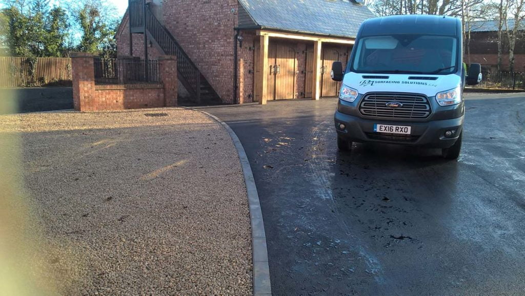 kerbing and road laying project shropshire